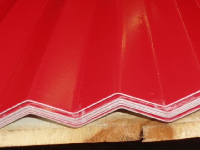 "2-1/2"" Corr. Painted BANNER RED"